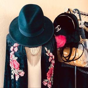 Accessories - • Wide Brim Fedora • Wool Fedora •